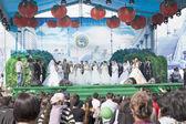 Parade der asiatische bräute — Stockfoto
