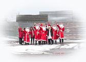 Santa Claus group — Stok fotoğraf