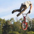 Stock Photo: BMX cycling, bicycle sport