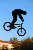 BMX cycling, bicycle sport — Stock Photo