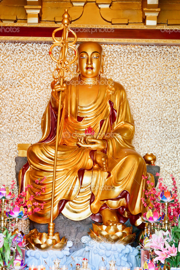 Buddhistic statue, China, Hainan, Sanya — Stock Photo #19083413