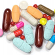 Stock Photo: Pills vitamin supplement capsules