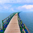 Pier sea landscape — Stock Photo