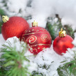 Christmas balls decor - Stock Photo