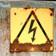 Stock Photo: Voltage sign