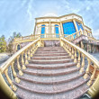 Balustrade  entrance  hdr — Stock Photo