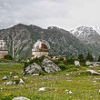 Old Observatory in mountain Central Asia — Stock Photo