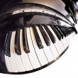 Piano fisheye - Stock Photo