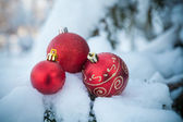 Christmas balls decor — Stock Photo