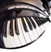 Piano fisheye — Stock Photo
