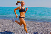 Athletic sports woman — Stock Photo