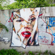 Stock Photo: Graffiti Marilyn Monroe