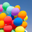 Balloons  blue sky — Stock Photo