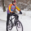 Stock Photo: Winter cycling