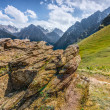 Mountain peaks  landscape stone Central Asia Kazakhstan   — Stock Photo