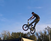 BMX cycling bicycle sport — Stock Photo