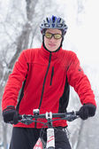 Winter cycling bicycle — Foto Stock