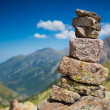 Stock Photo: Cairn stone pyramid
