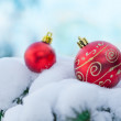 Christmas background snow decor — Stock Photo