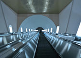Escalator steps staircase — Foto Stock