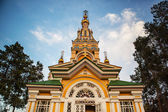 Church orthodox dome christianity Almaty Kazakhstan — Stock Photo