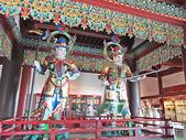 Buddhist temple in Nanshan China Haynan buddhism statue — Stock Photo