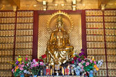 Buddhist temple in Nanshan China Haynan buddhism statue — Stock Photo
