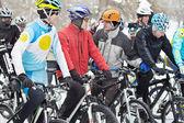 Ciclismo nos jogos de inverno — Fotografia Stock