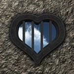 Heart prison window — Stock Photo #12057762