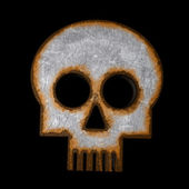 Rusty skull symbol — Stock Photo