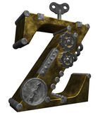Steampunk letter z — Stock Photo