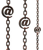 Email chains — Stock Photo