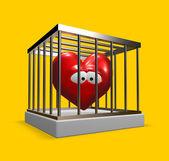 Coeur en cage — Photo