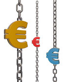 Euro chains — Stock Photo