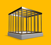 Metal cage — Stock Photo