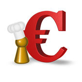 Cook token and euro symbol — Stock Photo