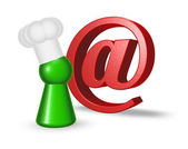 Email cook — Stock Photo