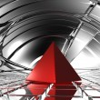 Red pyramid — Stock Photo #18695941