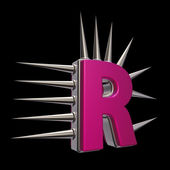 Prickles letter r — Stock Photo