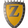 Shield with letter z — Stock Photo #18871821