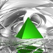 Green pyramid — Stock Photo
