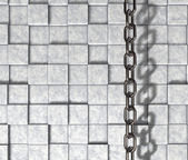 Chain on stone background — Stock Photo