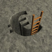 Euro hole — Stock Photo