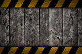 警告バーで木製の背景 — ストック写真