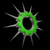 Prickles gear wheel — Stock Photo