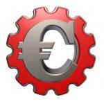 Euro symbol and gear wheel — Stock Photo #22570975