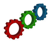 Rgb gear wheels — 图库照片