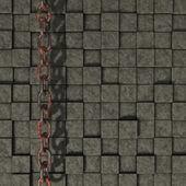 Taş zemin üzerine zincir — Stok fotoğraf