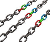 řetězy rgb — Stock fotografie