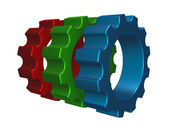 Rgb gear wheels — Stock Photo